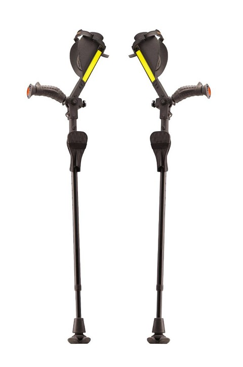 Ergobaum Royal Ergonomic Pain Reducing Forearm Crutches Pair
