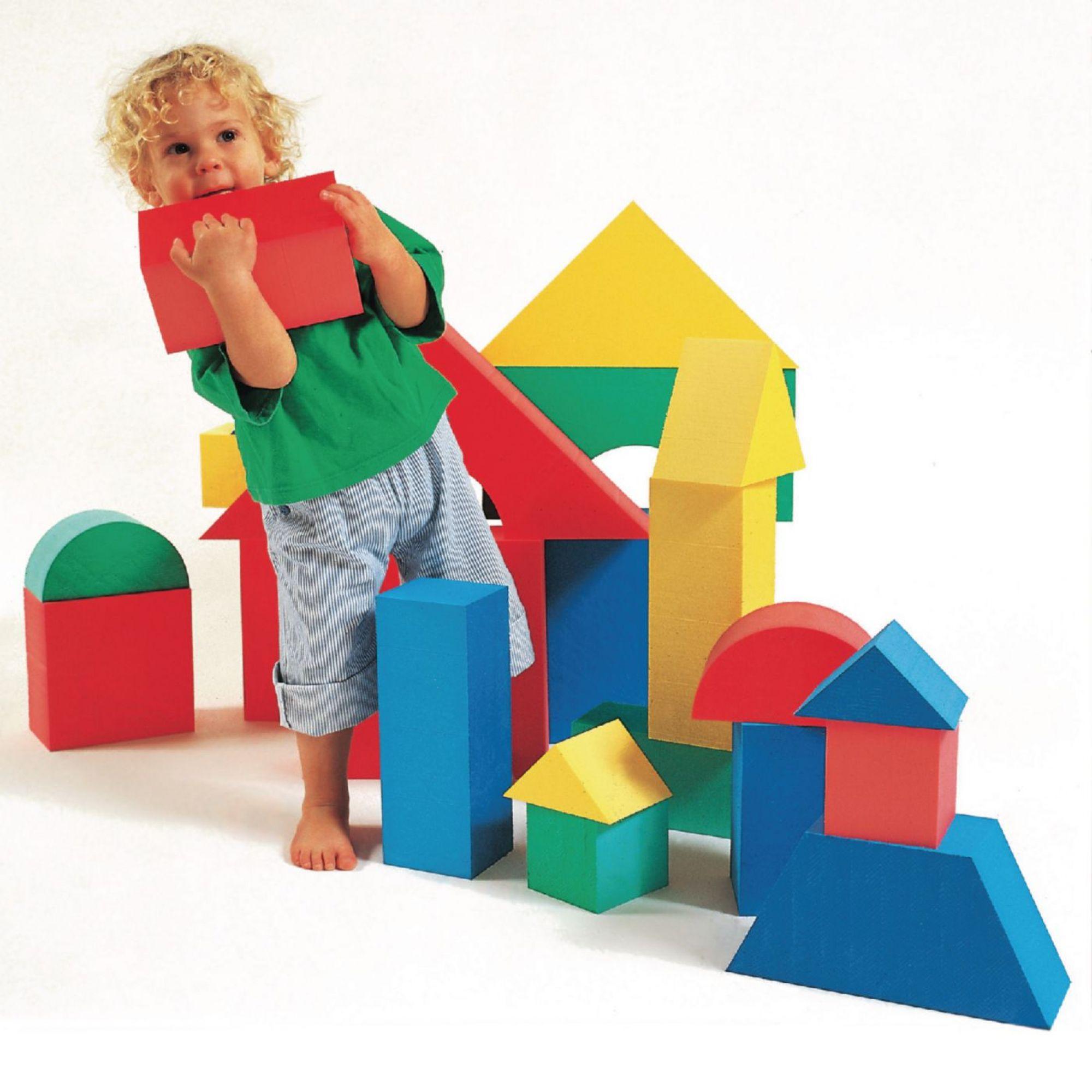 giant colorful foam block shapes