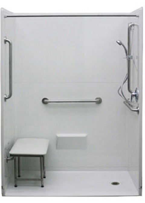 Fiberglass Shower Tub Combo