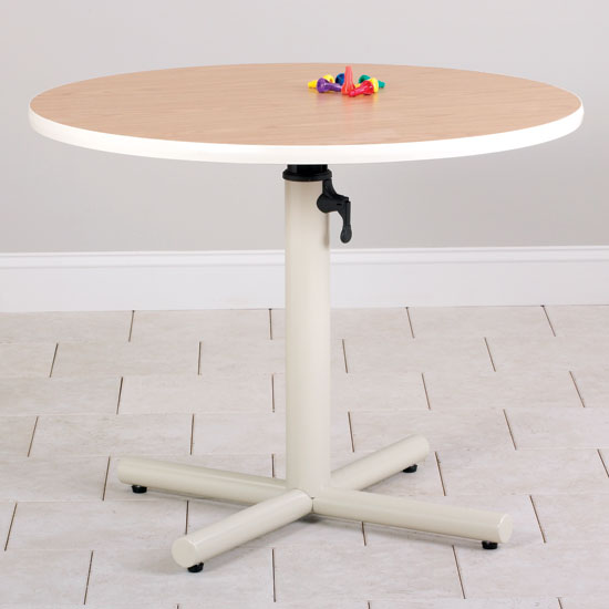 Round Height Adjustable Therapy Work Table
