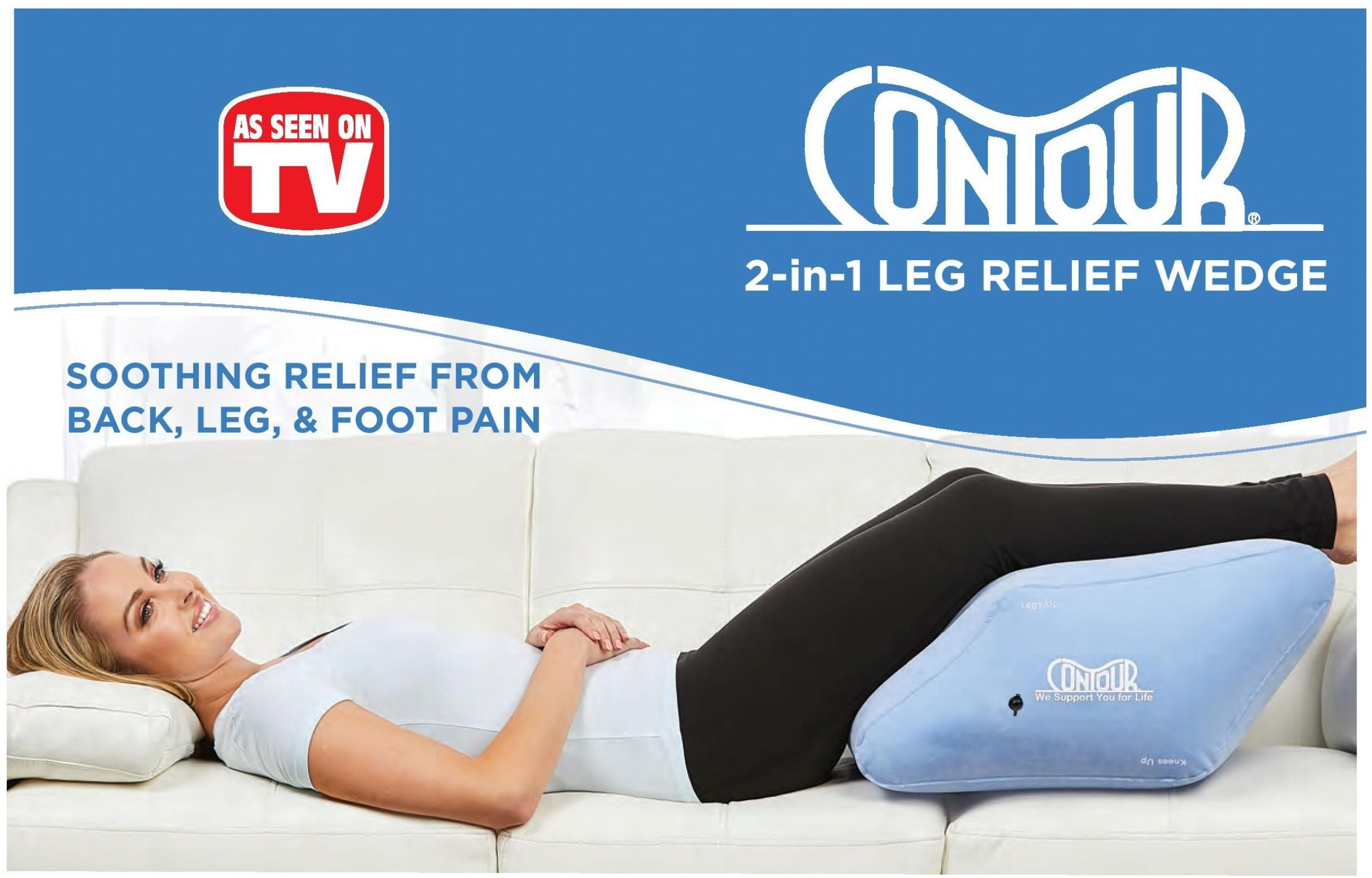 Picture of: Inflatable 2 In 1 Leg Relief Wedge By Contour Living
