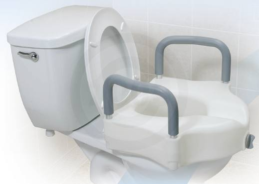 Locking Elevated Toilet Seat With Arms Free Shipping