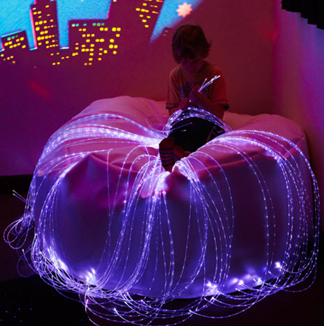 Led Chromotherapy Fiber Optic Softie Sensory Beanbag Chair