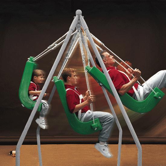 Flaghouse indoor outdoor special needs pediatric swing frame for Indoor swing seat