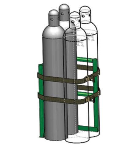 Ht V 8 Oxygen Cylinder Warehouse Rack Free Shipping
