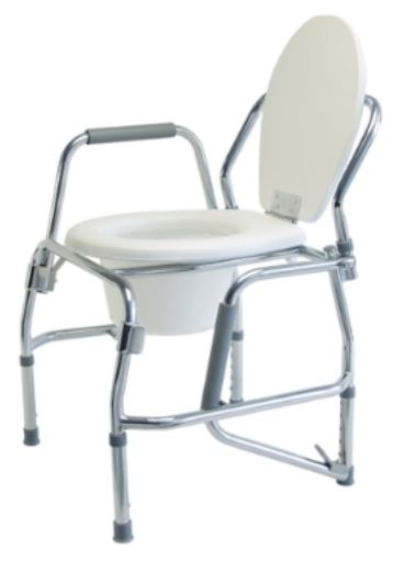 Lumex Platinum Collection Steel 3 In 1 Padded Drop Arm Commode