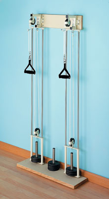 Hausmann Chest Wall Pulley Exercise Equipment Weight System