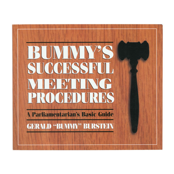 Book Hearing Guide: Bummys Successful Meeting Procedures: A