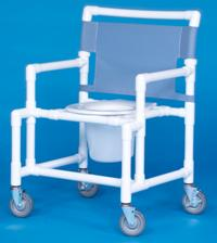 Oversize Shower Chair Commode with Round Seat