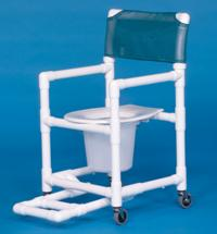 Standard Line Shower Chair Commode with Footrest