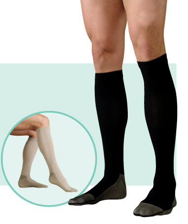 34a8fe7aa Juzo Soft Ribbed Silver Sole 30 to 40 mmHg Compression Socks