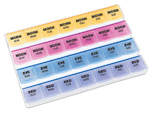 Weekly 4 A Day Pill Organizer Discount Sale Free Shipping