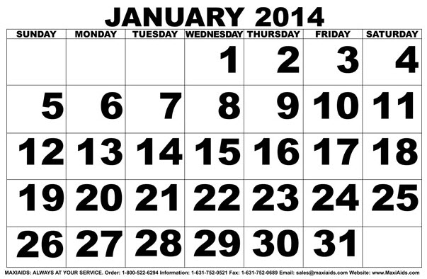 Large Print Calendar Template 28 Images Calendars Large Print