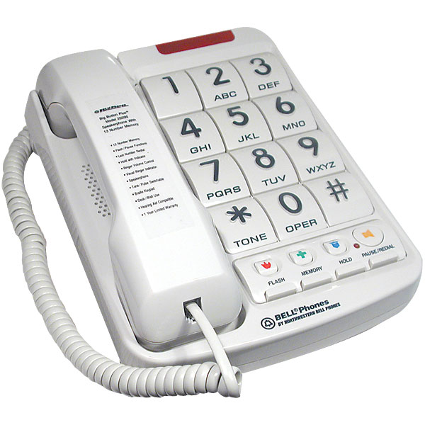 Big Button Telephone With Braille Buttons