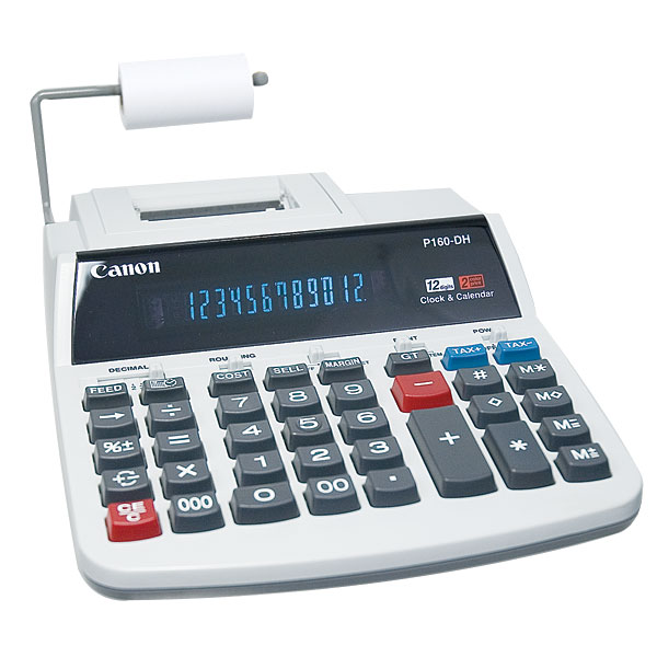 Canon Large Display Desk Top Printing Calculator