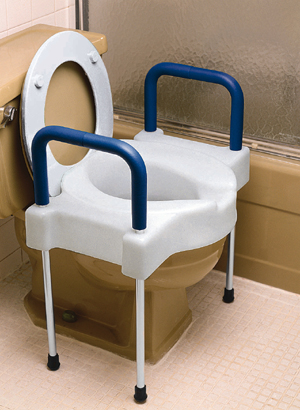 Extra Wide Tall Ette Elevated Toilet Seat With Legs