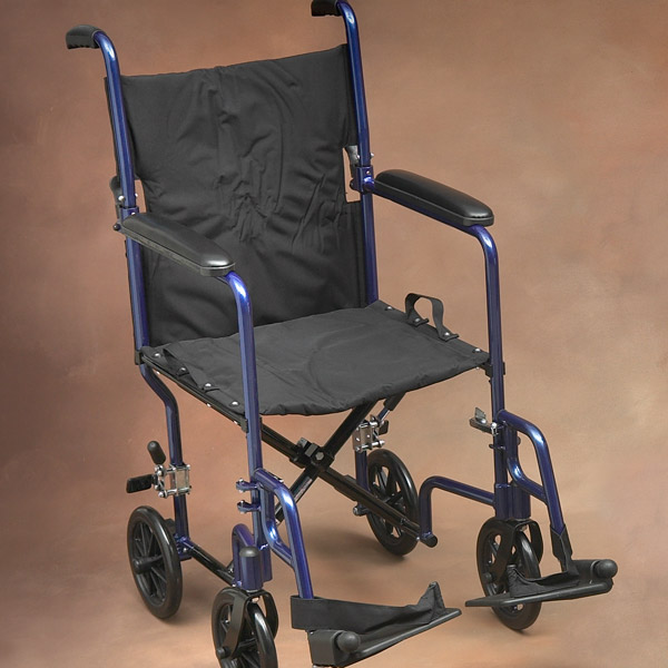 Lightweight Folding Norco Transport Chair With Blue Frame