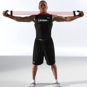 Lifeline Chest Expander Resistance Cable Bands And Handles