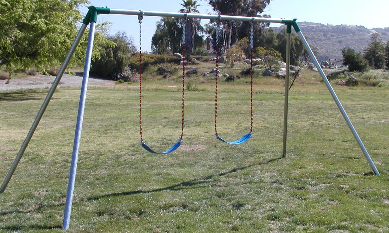 Swinging Playground Equipment : Jensen swing standard ft high residential set