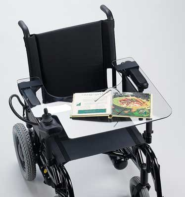 Lap Tray For Electric Wheelchair With Cutout For Joystick