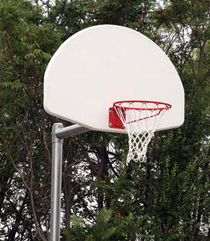Adjustable Aluminum Fan Shaped Basketball Backboard