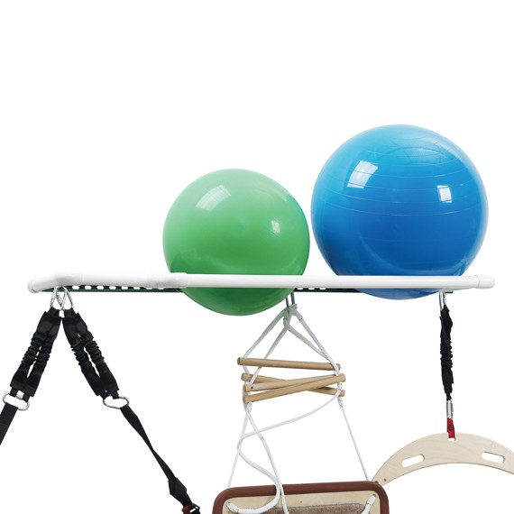 Stability Ball Wall Rack: Multi-Size Exercise Ball Storage Shelf