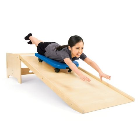 Scooter Board And Slide Ramp For Pediatric Gyms