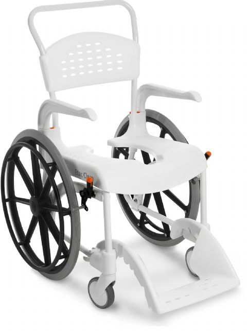 Etac Clean 24 In Shower Commode Chair With Wheelchair Wheels