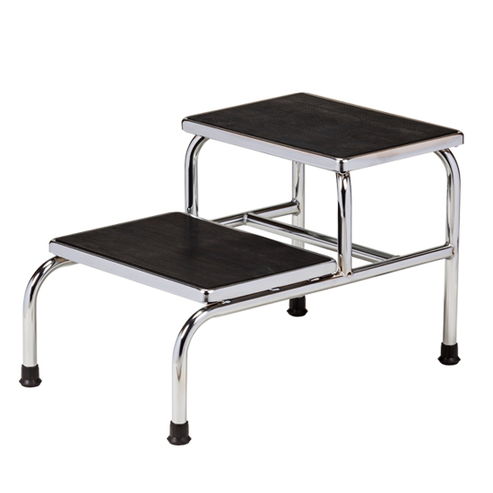 Clinton Chrome Two Step Step Stool Free Shipping
