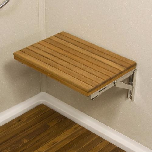 Teak Wall Mount Fold Down Shower Bench Free Shipping
