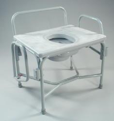 Extra Wide Heavy Duty Commode With Drop Arm And Elongated