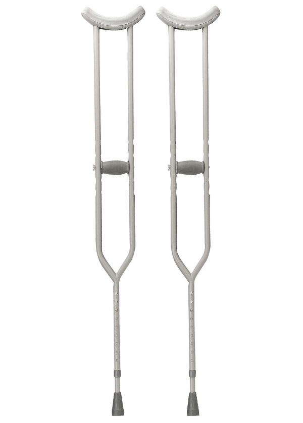 1 Pair Drive Medical Bariatric Heavy Duty Walking Crutches Tall Adult