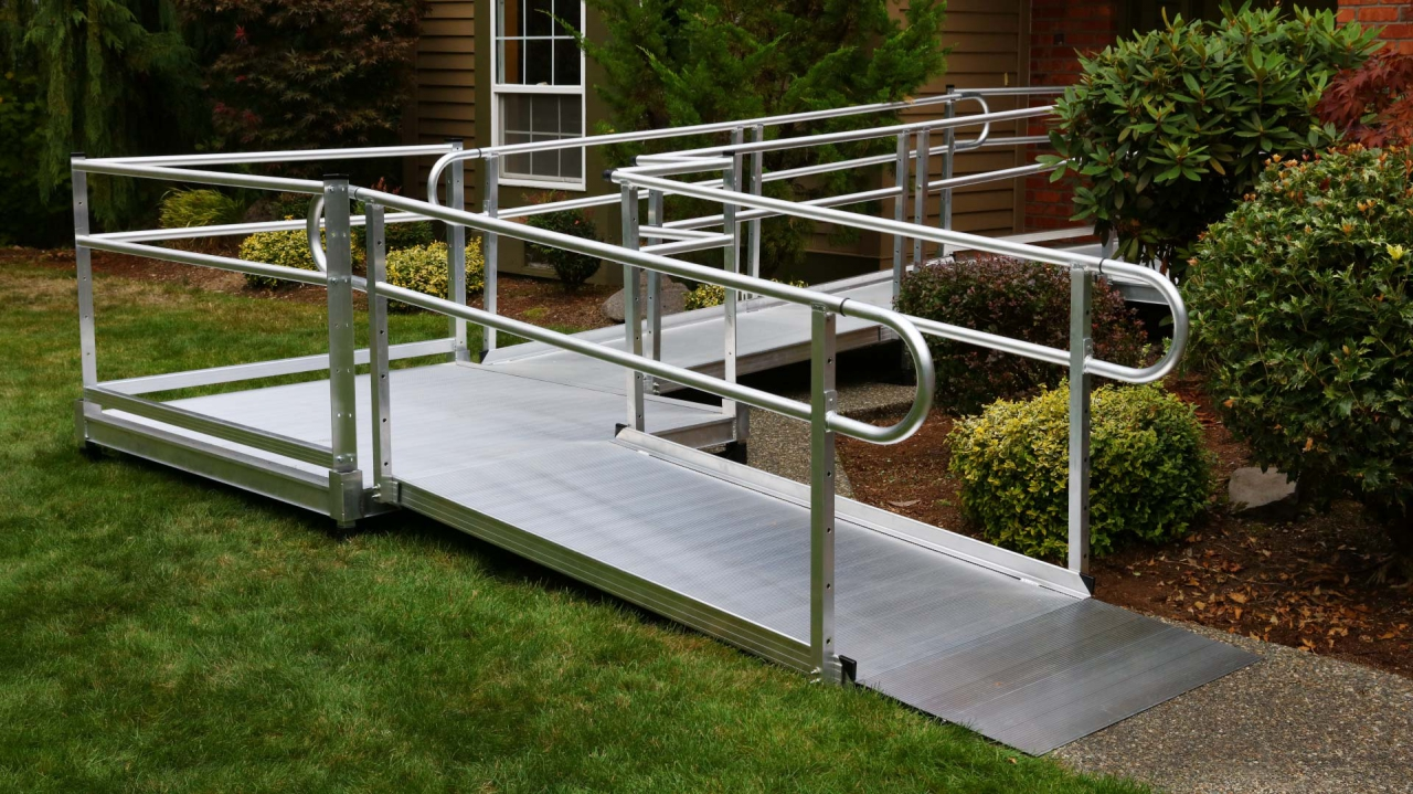 Pathway 3g Modular Aluminum Wheelchair Ramp System By Ez Access Ramps