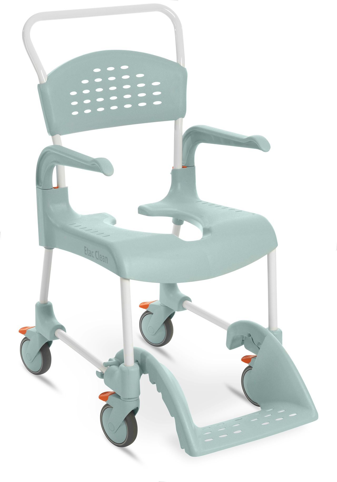 Clean Fixed-Height Shower Commode Chair by Etac
