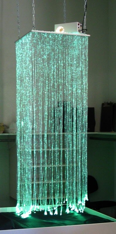 Fiber Optic Color Changing Light Waterfall