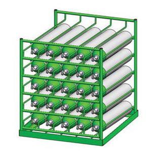 Horizontal 25 D E Oxygen Cylinder Rack Free Shipping