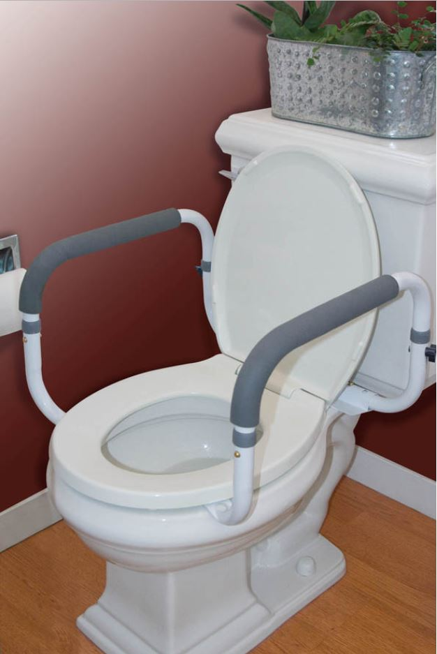 Toilet Support Adjustable Width Rail Free Shipping