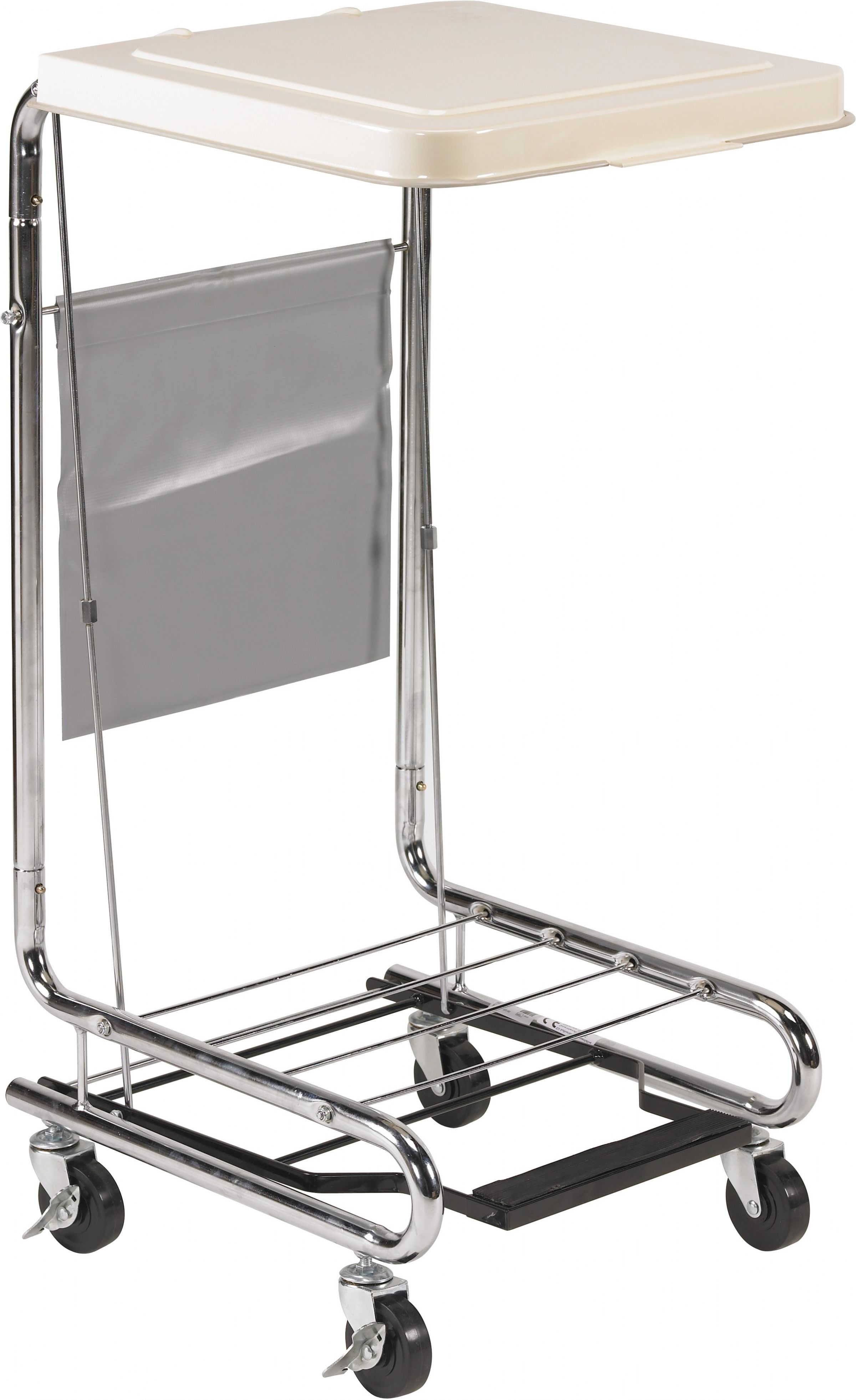 Drive Medical Chrome Plated Steel Laundry Hamper Stand
