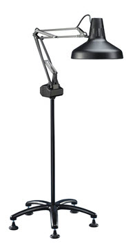 Low Vision Floor Lamps: Luxo Combination Lamp with Casters,Lighting