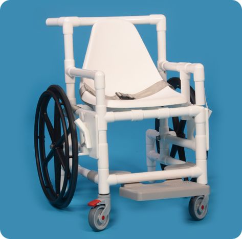 Pvc Pool Access Wheelchair With Footrest And Swing Away Arm
