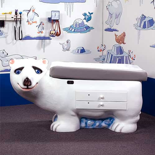 Polar Bear Pediatric Examination Table Free Shipping