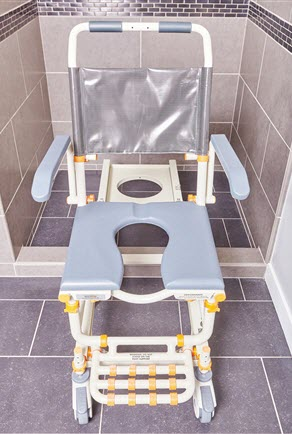 Roll Inbuddy Shower Commode Chair With Tilt