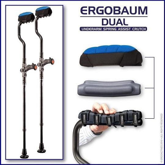 Ergobaum Dual Ergonomic Underarm Crutches