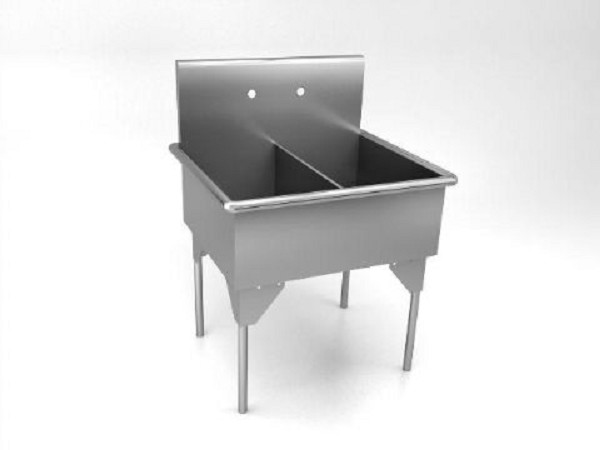 Square Corner Sink : ... Gallon Double Compartment Square Corner Scullery Sink : Medical Sinks