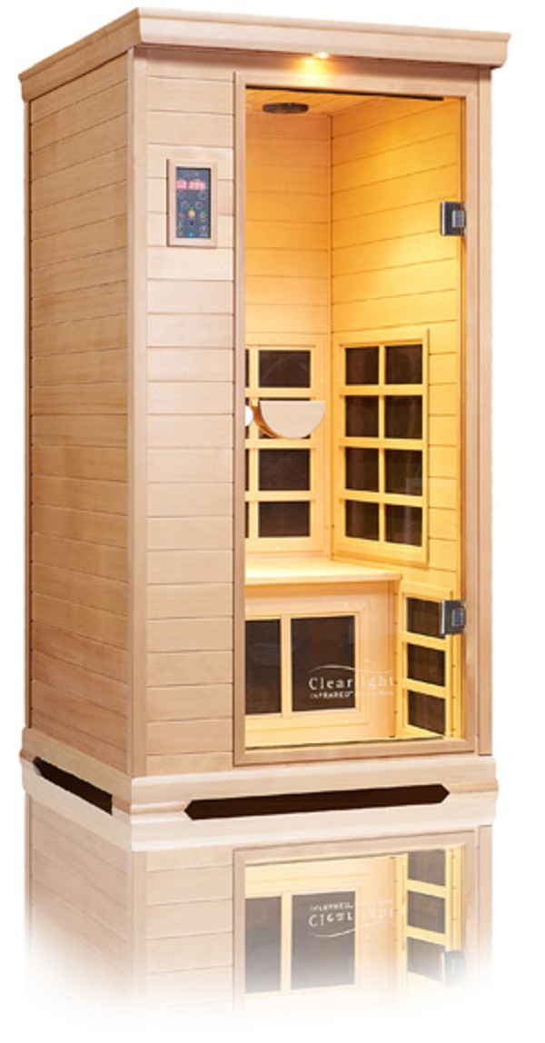 Clearlight nordic spruce single person infrared sauna saunas for Cost to build a sauna