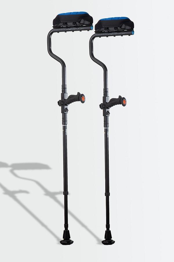 Ergobaum Dual Ergonomic Underarm Crutches - Real Carbon Fiber
