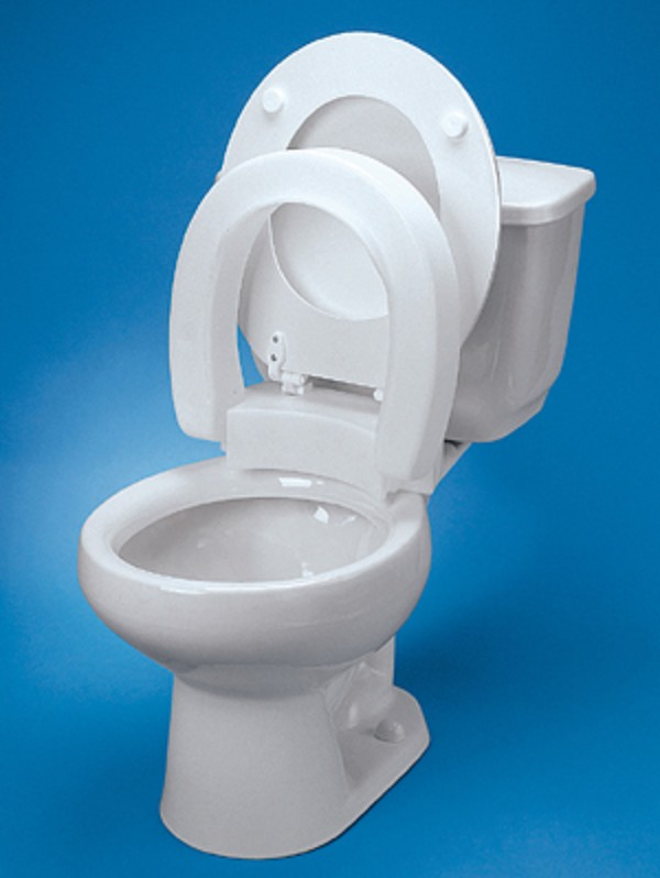 Maddak Hinged Elevated Toilet Seat Free Shipping