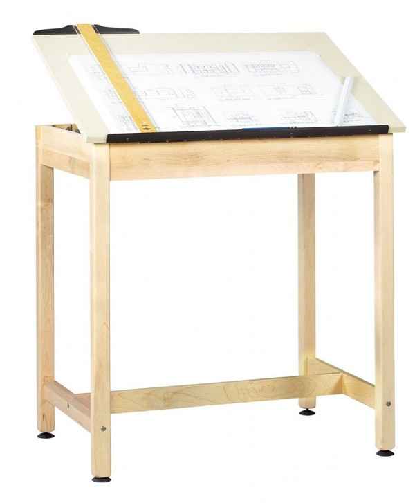 Full Top Adjustable Drawing Table Science And Lab Furniture