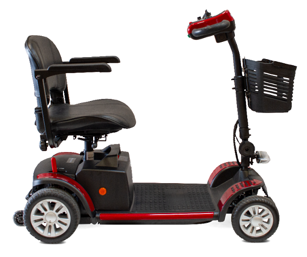 Side view of the scooter