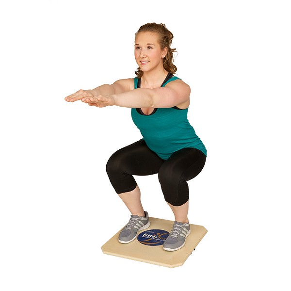 Balance Board Exercises For Knee: Fitterfirst Professional Rocker Board : Balance Boards